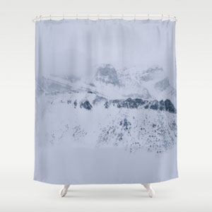 There Hides Giants shower curtain
