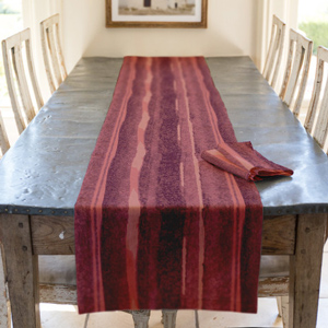Stroke of Romance Table Runner