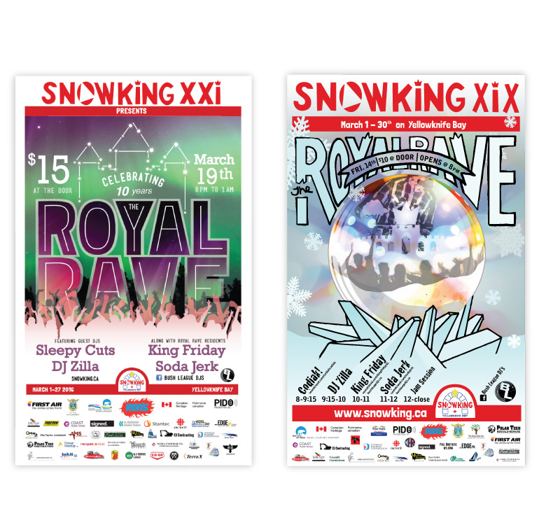Posters for the Royal Rave